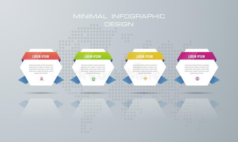 molde de 3d Infographic com 4 opções ilustração royalty free