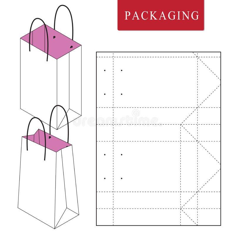 Molde de empacotamento do saco para vestir ilustração stock