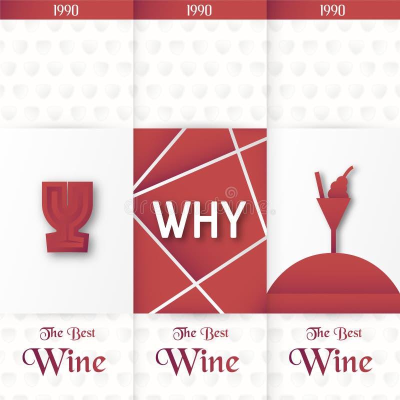 Molde de empacotamento luxuoso no estilo moderno para a tampa do vinho, caixa da cerveja Ilustração do vetor no conceito superior ilustração stock