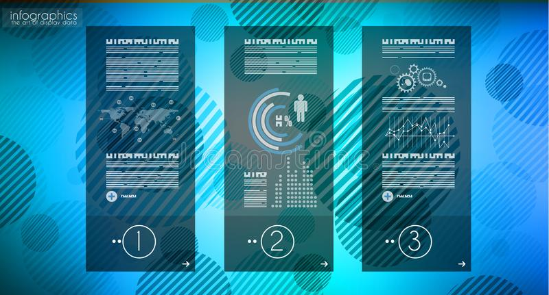 Molde de Infograph com escolhas múltiplas e muito infographi ilustração royalty free