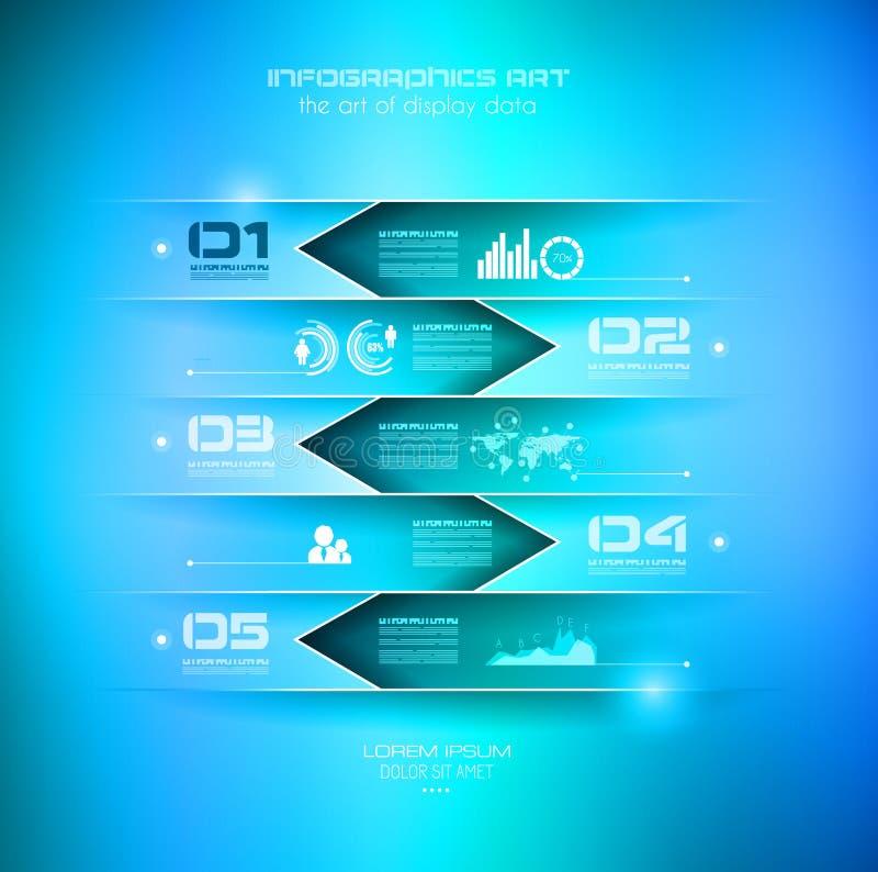 Molde de Infograph com escolhas múltiplas e muito infographi ilustração do vetor