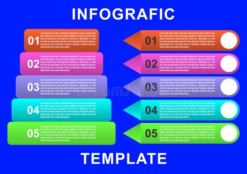 Molde de Infographic com etiqueta de papel, círculos integrados Conceito do negócio com opções ilustração royalty free