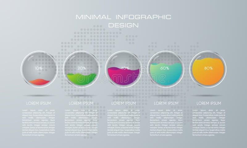 Molde de Infographic com 5 op??es ilustração stock