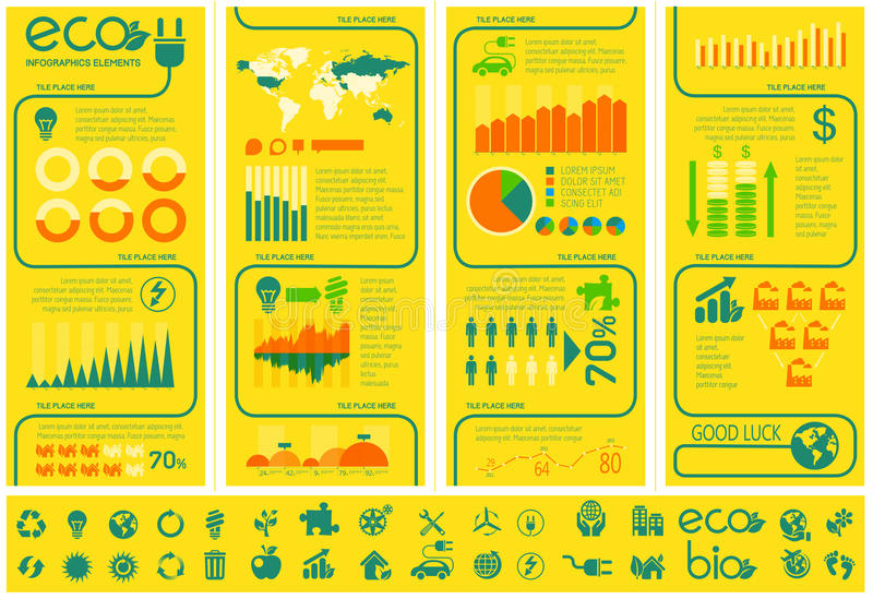 Molde de Infographic da ecologia. ilustração do vetor