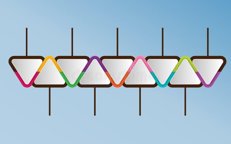 Molde de Infographic de elementos triangulares Wi do conceito do negócio ilustração stock