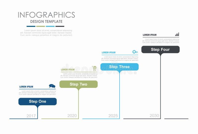 Molde de Infographic Ilustração do vetor Pode ser usado para a disposição dos trabalhos, diagrama, opções da etapa do negócio, ba ilustração do vetor