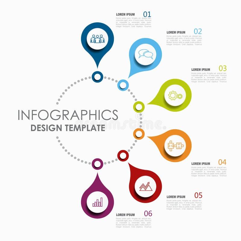 Molde de Infographic Ilustração do vetor Usado para a disposição dos trabalhos, diagrama, opções da etapa do negócio, bandeira, d ilustração stock