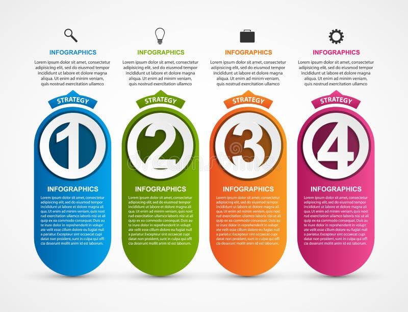 Molde de Infographic para a bandeira das apresentações ou da informação do negócio ilustração stock