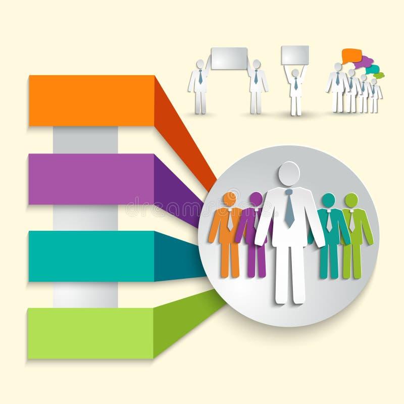 Molde de Infographic para o projeto do negócio ilustração do vetor