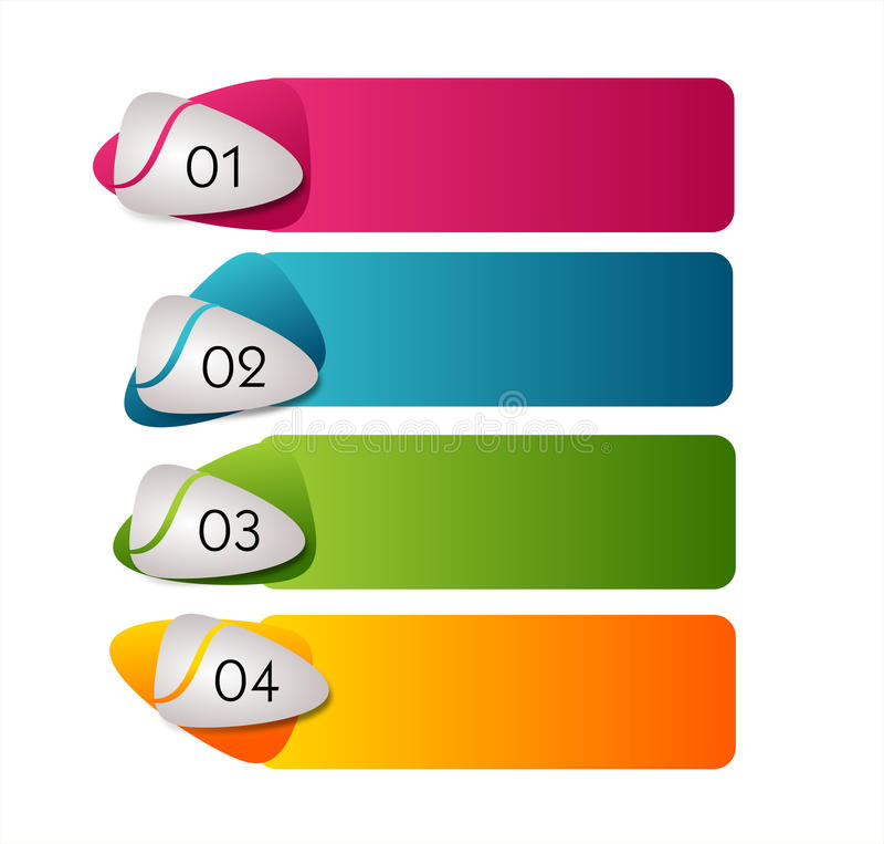 Molde de Infographic para quatro etapas ilustração stock