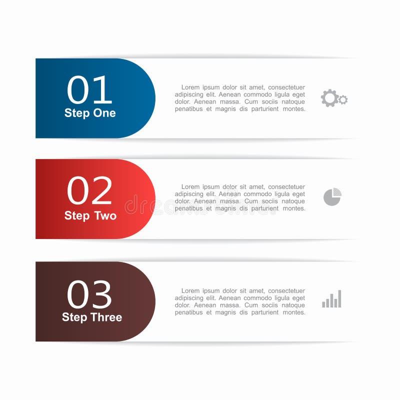 Molde de Infographic pode ser usado para a disposição dos trabalhos, diagrama, opções da etapa do negócio, bandeira, design web ilustração do vetor