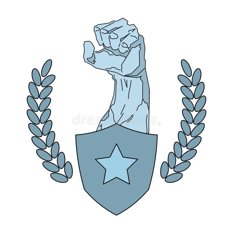 Molde de Logo Modern Sport Club Emblem do fitness center da silhueta isolado no fundo branco ilustração royalty free