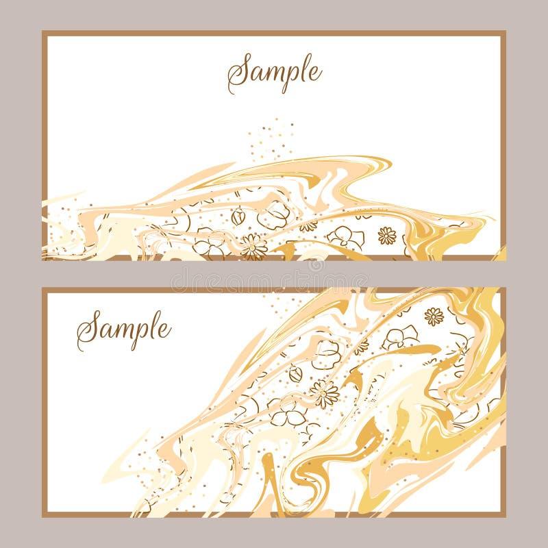 Molde de mármore abstrato do cartão do projeto ilustração do vetor