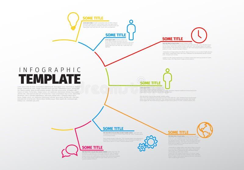 Molde de múltiplos propósitos de Infographic do vetor ilustração stock