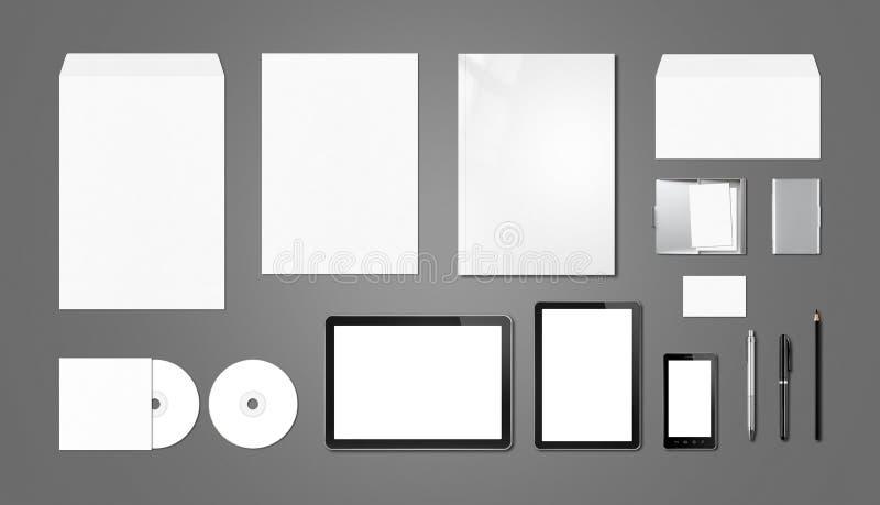 Molde de marcagem com ferro quente incorporado do modelo, fundo cinzento escuro ilustração stock