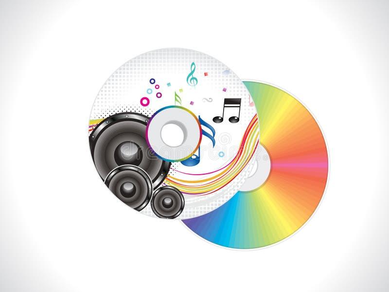 Molde de tampa cd musical colorido abstrato ilustração do vetor