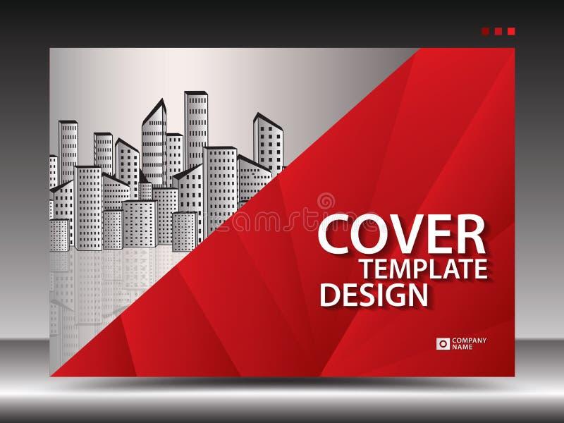 Molde de tampa para anunciar, indústria, Real Estate, casa, quadro de avisos, apresentação, inseto do folheto, tampa do informe a ilustração stock
