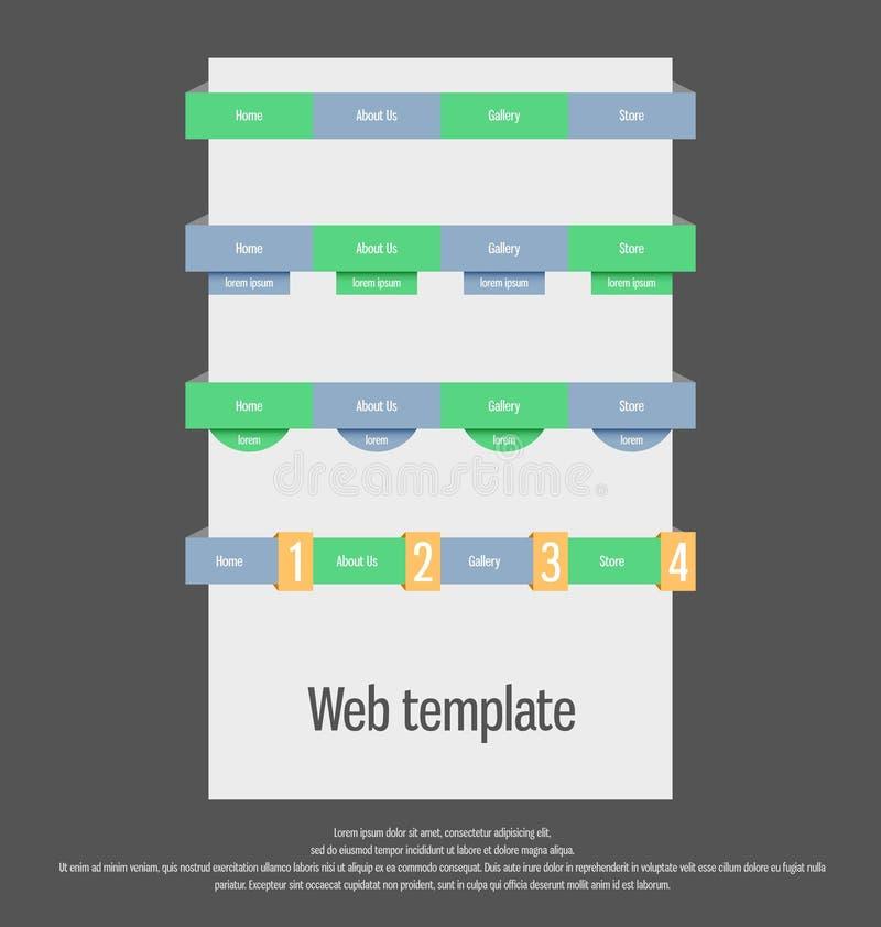 Molde de UI Elementos do Web UX ilustração stock