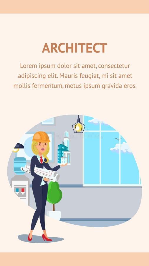 Molde de Website Banner Vetora do arquiteto ilustração royalty free
