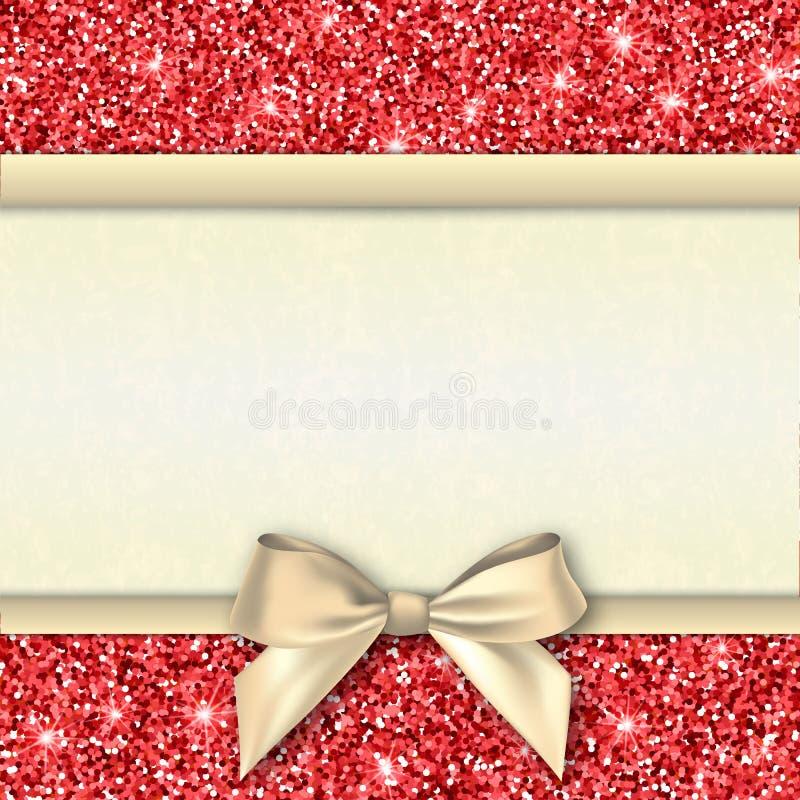 Molde decorativo do cartão do convite ilustração do vetor