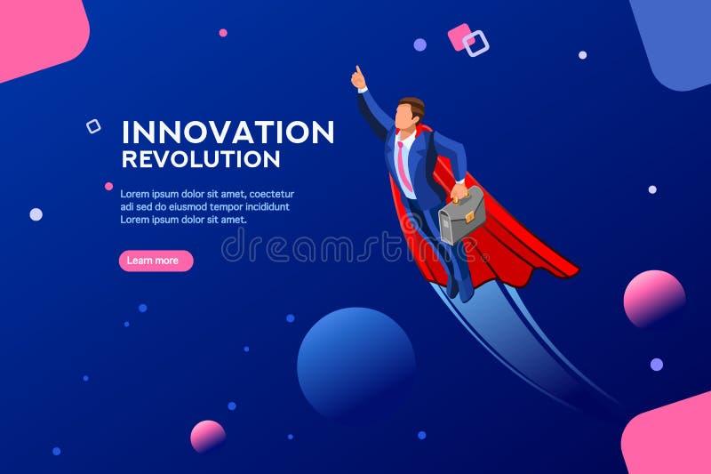 Molde digital Start-Up do trasformation para o Web site ilustração do vetor