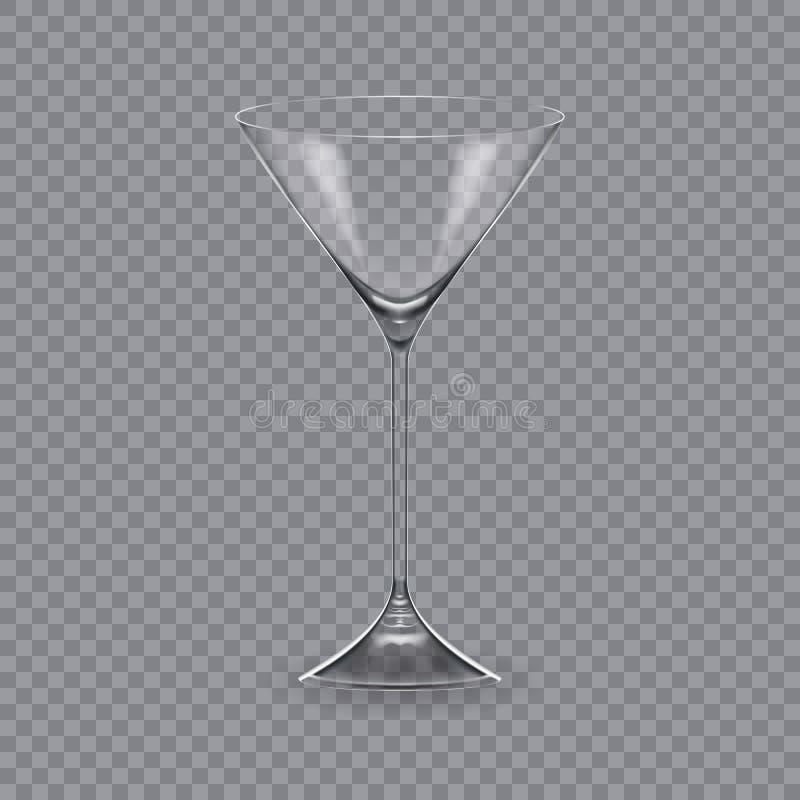 Molde, disposição, tábua de pão, vidro vazio, canecas, para a bebida martini ilustração do vetor