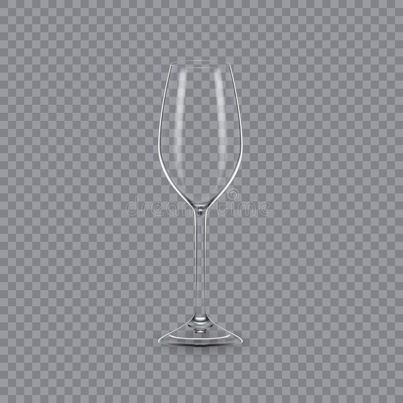 Molde, disposição, tábua de pão, vidro vazio, canecas, para o champanhe da bebida ilustração royalty free