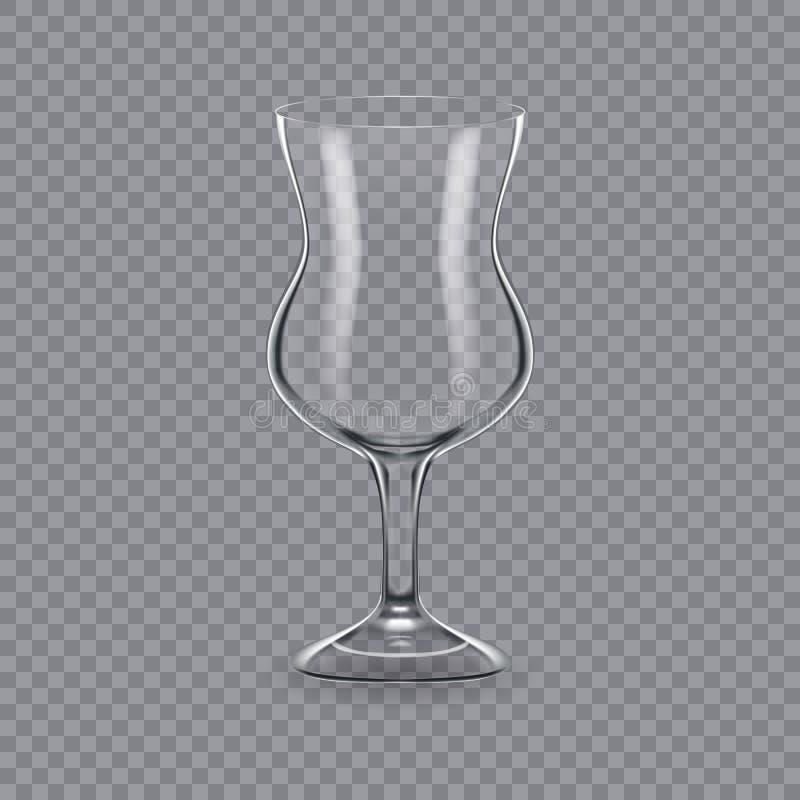 Molde, disposição, tábua de pão, vidro vazio, canecas, para o cocktail da bebida ilustração royalty free