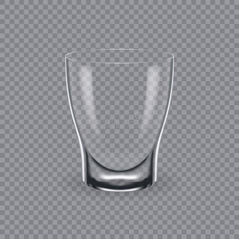 Molde, disposição, tábua de pão, vidro vazio, canecas, para o conhaque da bebida ilustração stock