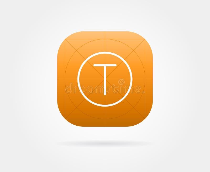 Molde do ícone do App com diretrizes Cor fresca do vetor ilustração royalty free