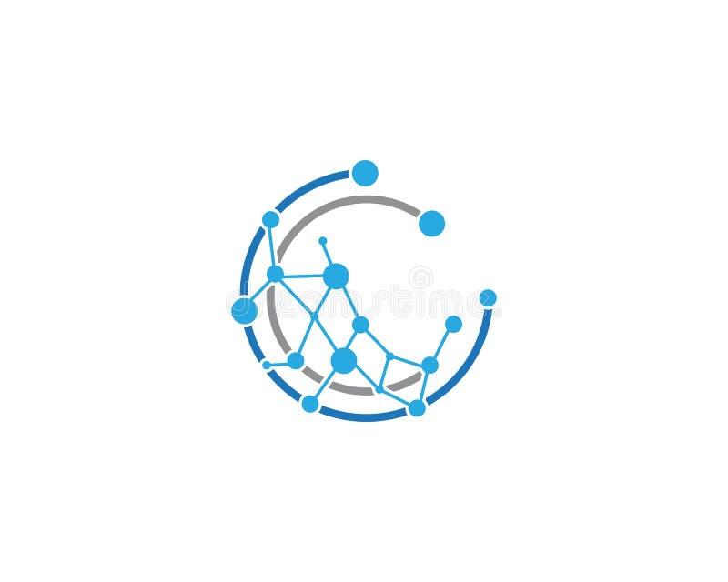 Molde do ícone do negócio global de Techno ilustração stock