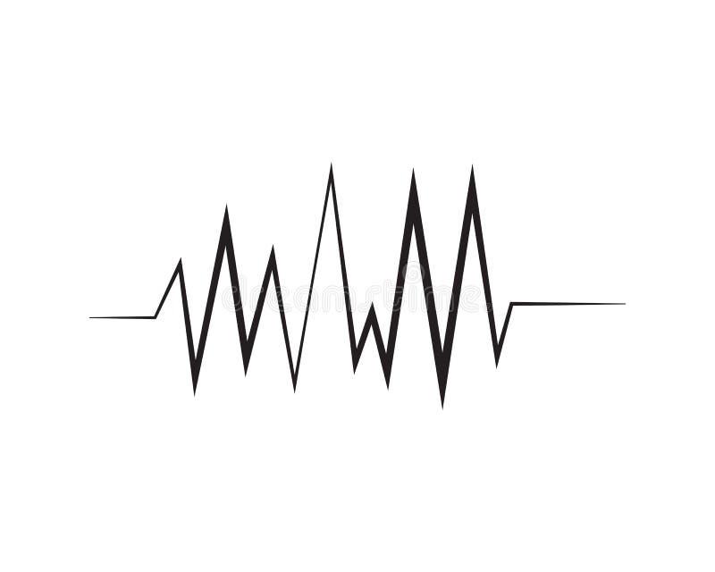 molde do ícone do vetor do logotipo do ilustration da onda sadia ilustração stock