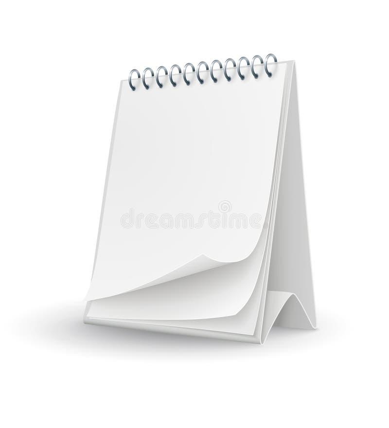 Molde do calendário com páginas vazias ilustração royalty free