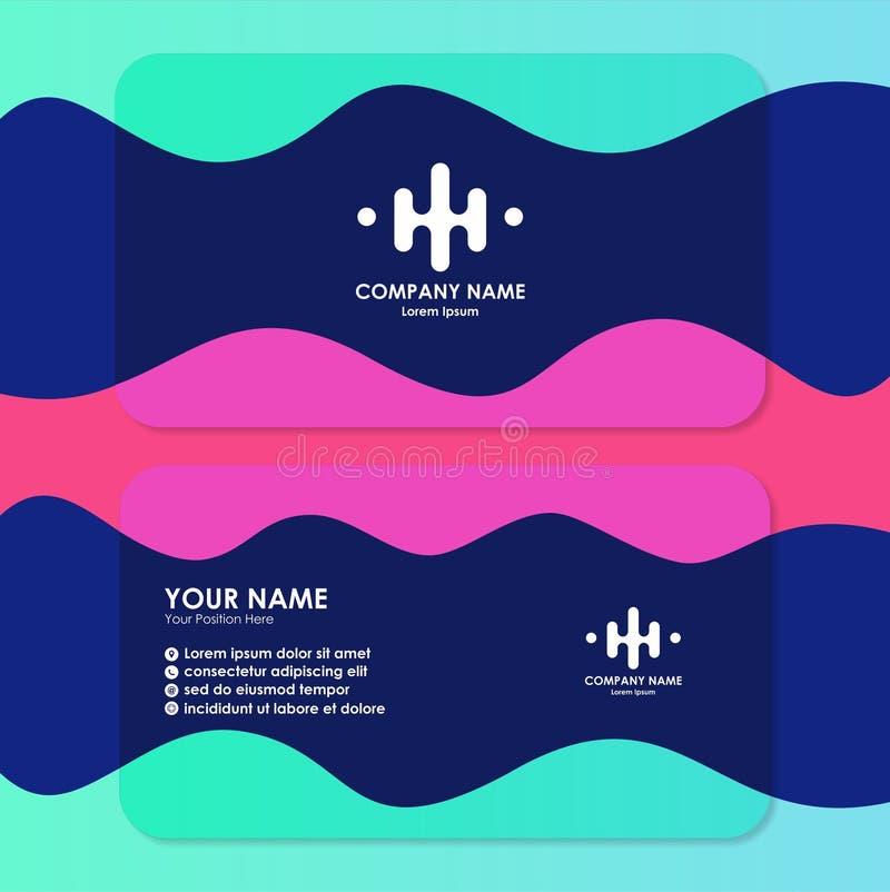Molde do cartão com projeto simples ilustração stock