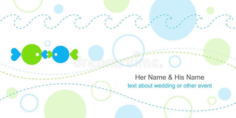 Molde do cartão de casamento ilustração do vetor
