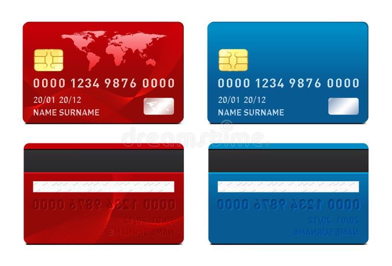 Molde do cartão de crédito do vetor ilustração stock