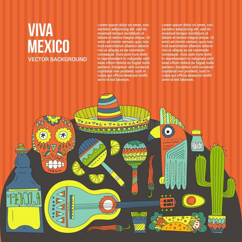 Molde do cartão de México ilustração royalty free