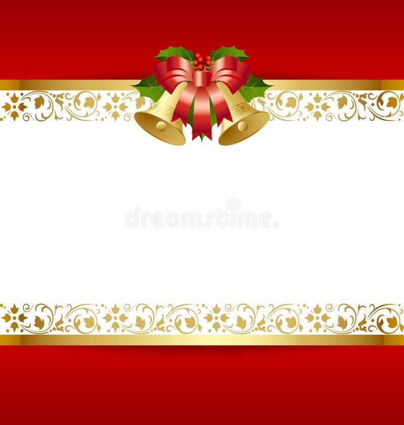 Molde do cartão de Natal ilustração do vetor