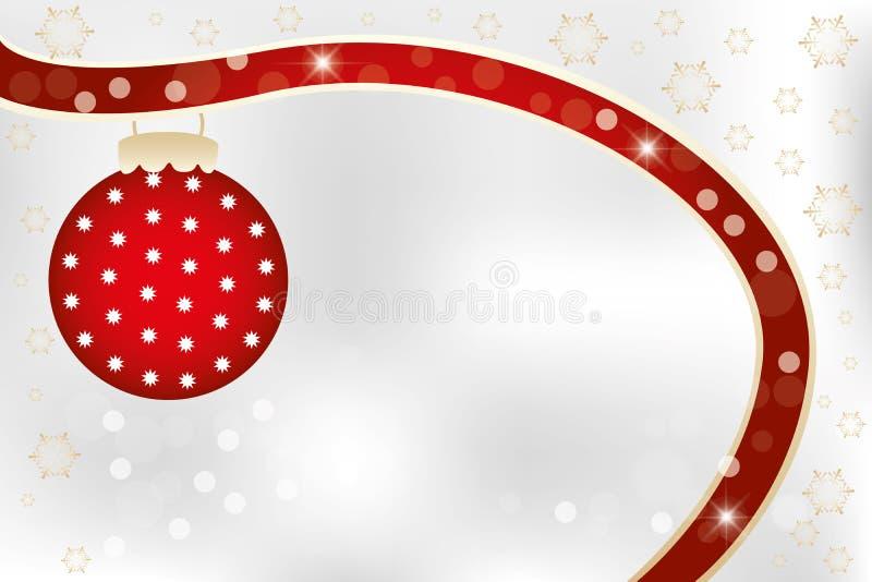 Molde do cartão de Natal com espaço da cópia ilustração do vetor
