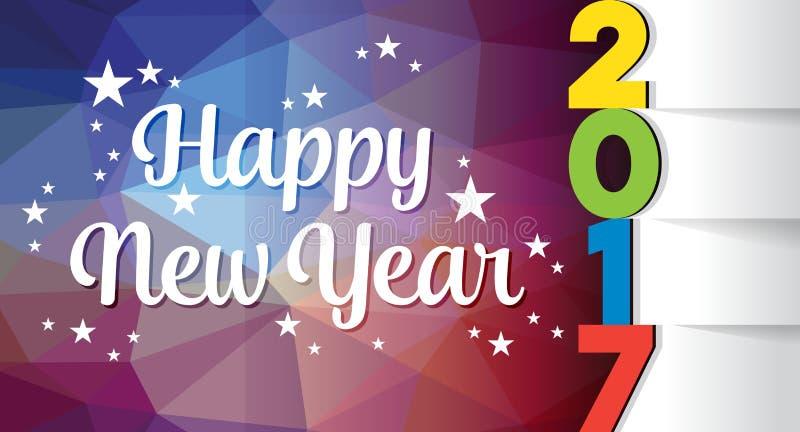 Molde do cartão do ano novo feliz foto de stock