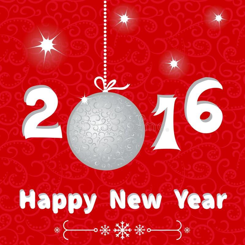 Molde do cartão do ano novo feliz Fundo do feriado ilustração royalty free