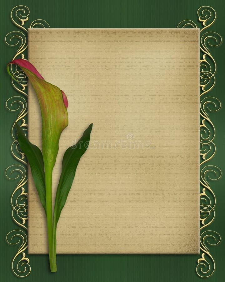Molde do cartão do convite do lírio de Calla ilustração do vetor