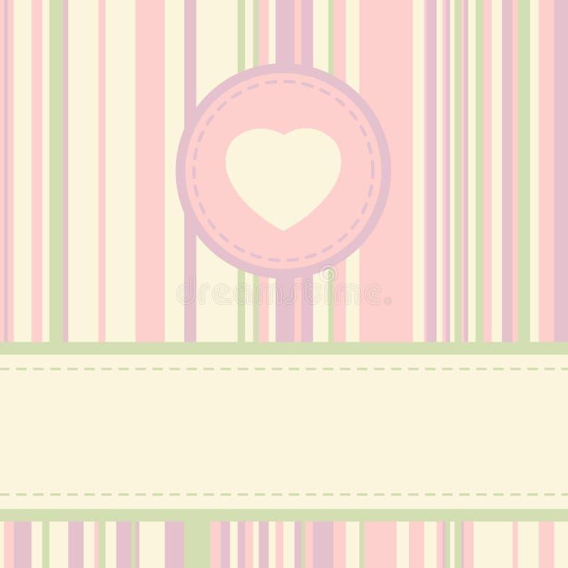 Molde do cartão do Valentim do vintage. EPS 8 ilustração stock