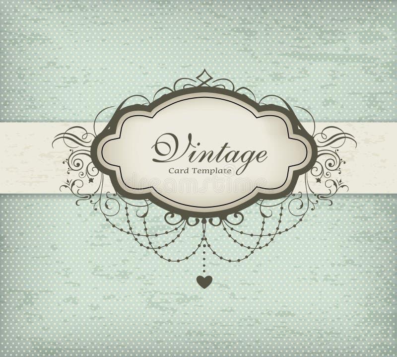Molde do cartão do vintage ilustração stock