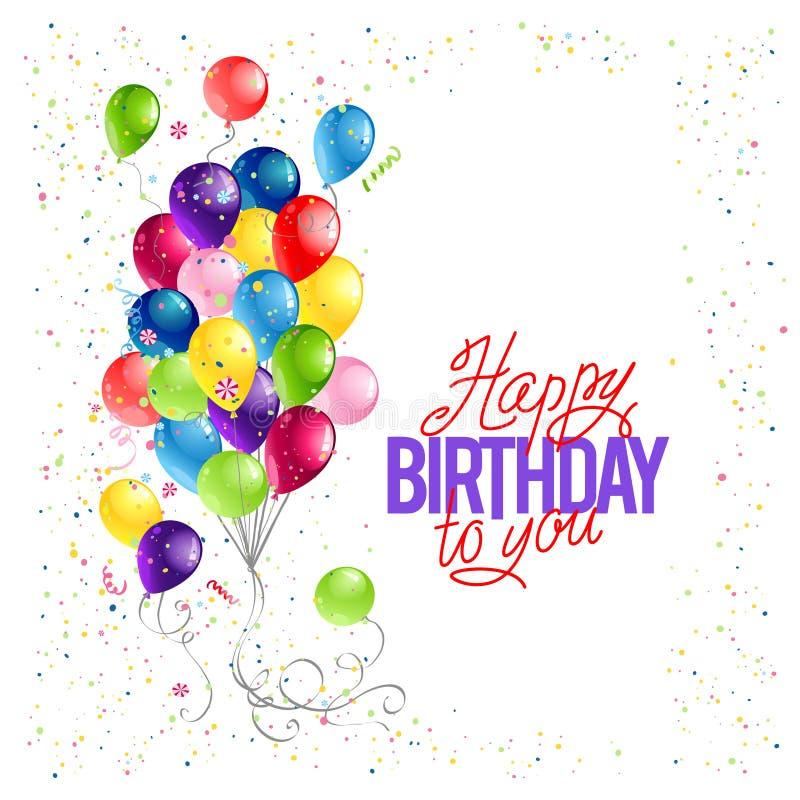 Molde do cartão do feliz aniversario ilustração royalty free