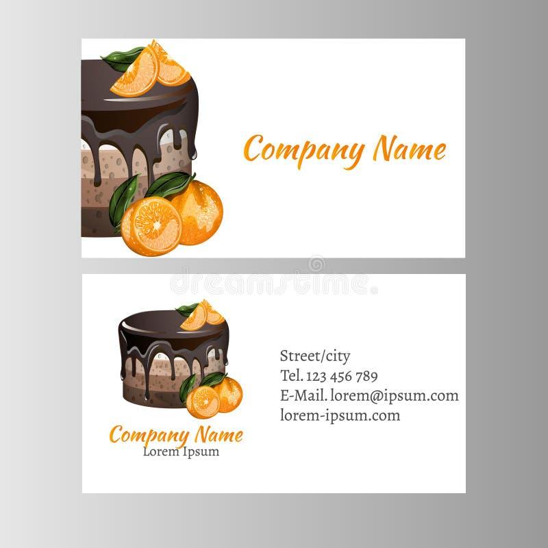 Molde do cartão para o negócio da padaria ilustração royalty free