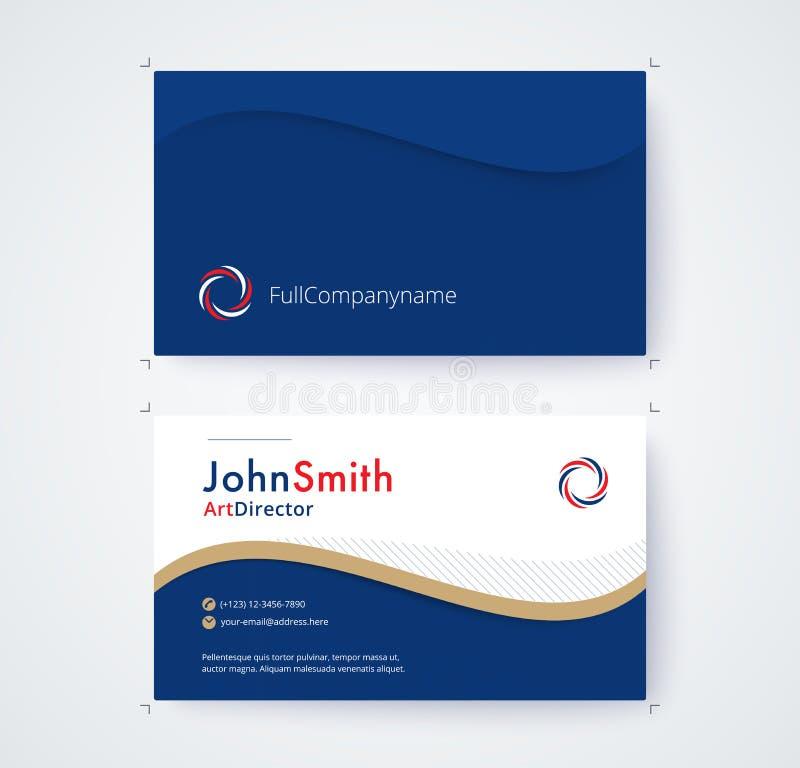 Molde do cartão para o projeto comercial no fundo branco ilustração stock