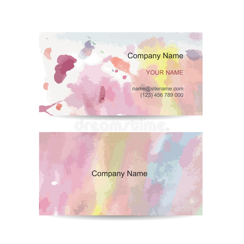 Molde do cartão para seu projeto watercolor ilustração royalty free