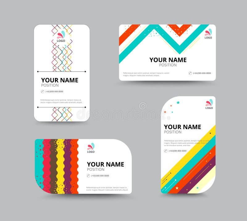 Molde do cartão, projeto da disposição de cartão, illu do vetor ilustração royalty free
