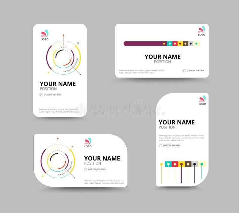 Molde do cartão, projeto da disposição de cartão, illu do vetor ilustração do vetor